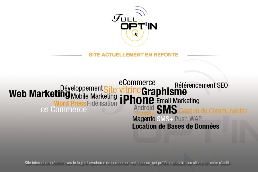 Conseil, Developpement, Marketing, Referencement, Web, Mobile, SMS, Emailing